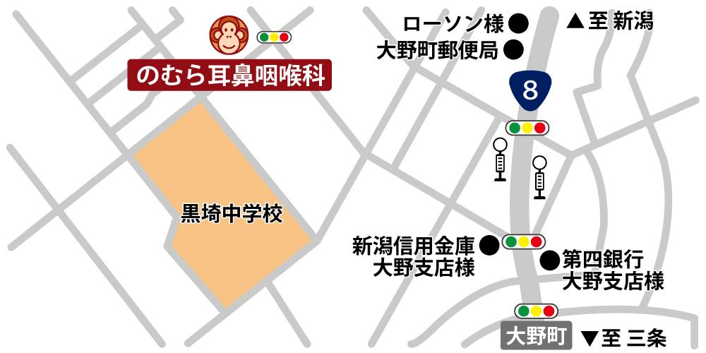 のむら耳鼻科:アクセスマップ